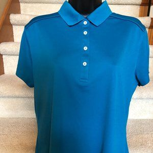 Turquoise Callaway s sleeve Golf Shirt sz L - EUC